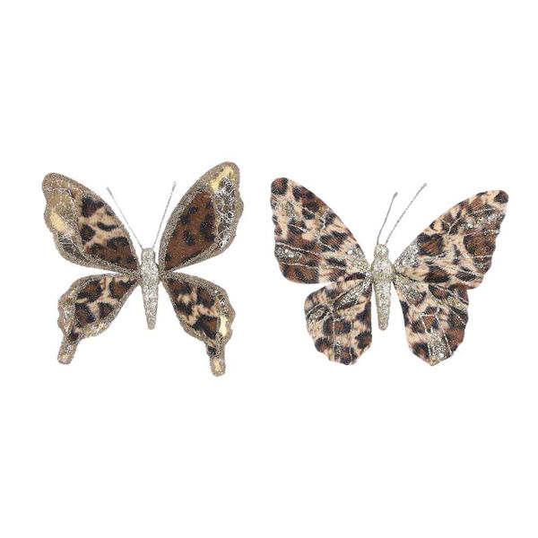 285720-1 Clip papillon or marron 18cm