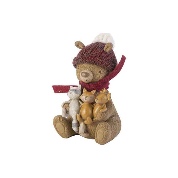 Image sur OURS (EN PELUCHE) SITTING WITH ANIMALS B